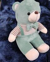 Детский плюшевый плед игрушка медвежонок 3 в 1 мятного цвета