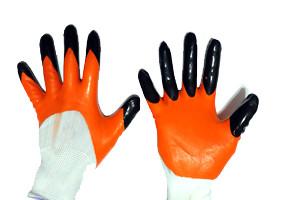 Перчатки рабочие нейлоновые стрейч с пальцем бмс