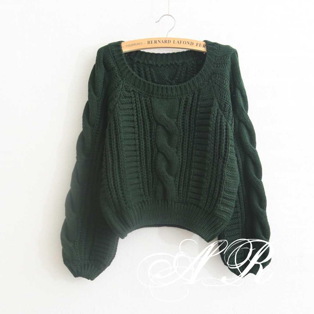 Жіночий теплий короткий светр з узорной в'язки (р. 42-46) vN10787