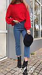 Жіночий теплий короткий светр з узорной в'язки (р. 42-46) vN10787, фото 10