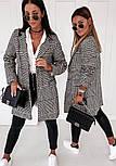 Женское демисезонное пальто в принт гусиная лапка на пуговицах (р. S-XL) vN10854, фото 9