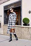 Женское длинное пальто - рубашка без подклада в клетку, на пуговицах (р. S-L) vN10856, фото 2