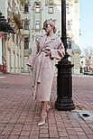 Женское зимнее кашемировое пальто на запах с поясом длиной ниже колена (р. S-L) vN10862, фото 2