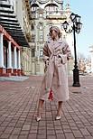 Женское зимнее кашемировое пальто на запах с поясом длиной ниже колена (р. S-L) vN10862, фото 4