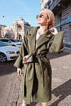 Женское зимнее кашемировое пальто на запах с поясом длиной ниже колена (р. S-L) vN10862, фото 5