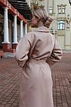 Женское зимнее кашемировое пальто на запах с поясом длиной ниже колена (р. S-L) vN10862, фото 7