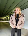 Женская удлиненная зимняя куртка на молнии с объемным капюшоном (р. 42-46) vN10879, фото 4