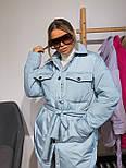 Женская зимняя куртка удлиненная под пояс, с нагрудными карманами (р. 42-48) vN10884, фото 3