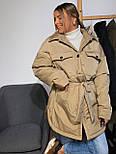 Женская зимняя куртка удлиненная под пояс, с нагрудными карманами (р. 42-48) vN10884, фото 6