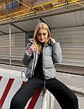 Женская короткая зимняя куртка на молнии с глубоким капюшоном и стойкой (р. 42-48) vN10887, фото 6