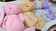 Детский плюшевый плед игрушка Заяц 4 цвета в ассортименте