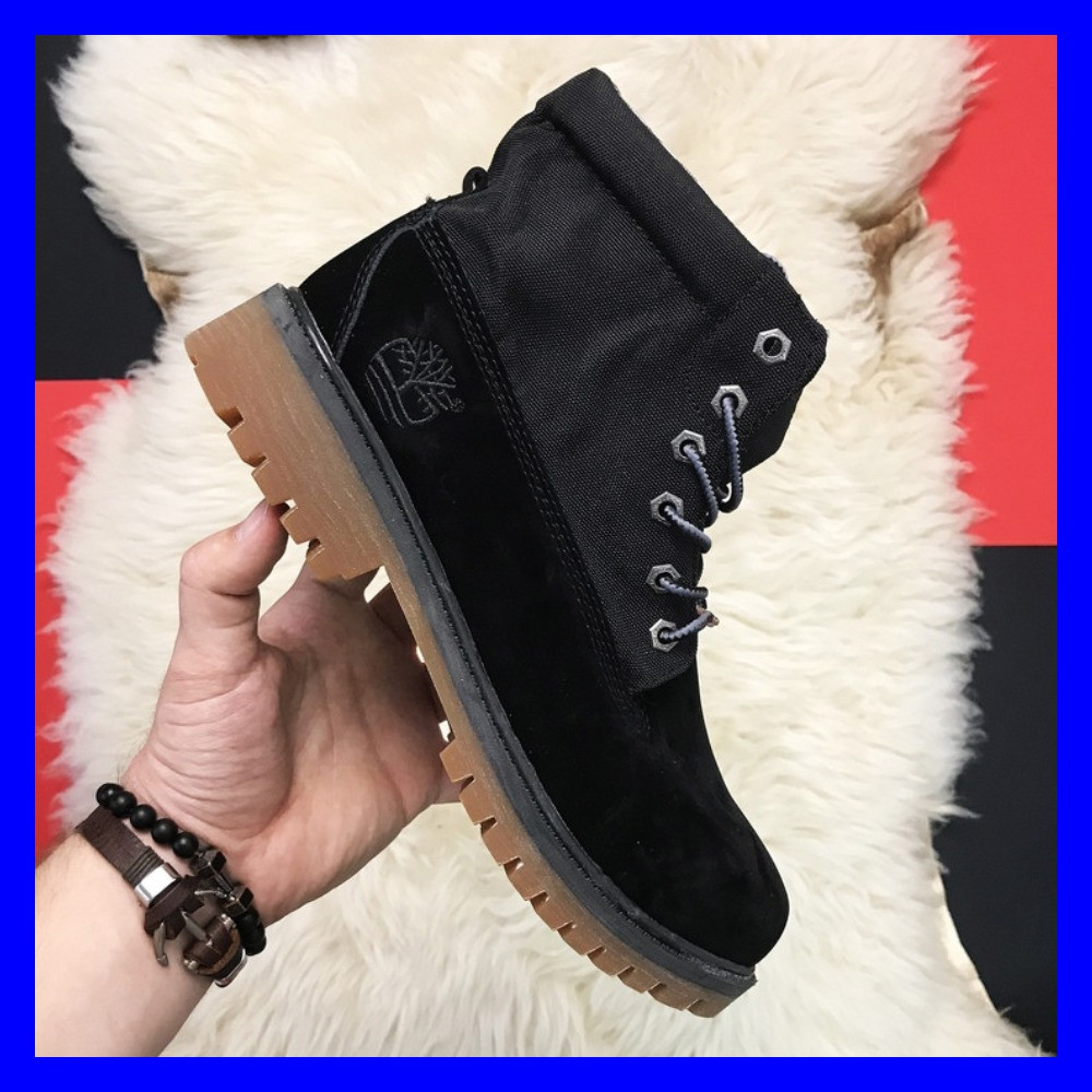 Мужские ботинки Timberland Military Black Premium Boots Thermo зимние черные тимберланд