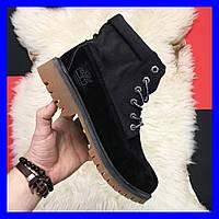 Мужские ботинки Timberland Military Black Premium Boots Thermo зимние черные тимберланд, фото 1