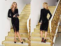 Красивое приталенное бархатное вечернее платье с французским кружевом Размер: 42, 44, 46 арт Мод1134