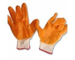 Перчатки нейлоновые облитые силиконом, размер 8-9