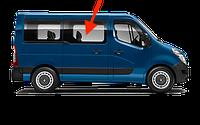 Переднее правое боковое стекло короткой базы (L1) Renault Master (2010-) (Opel Movano/Nissan Interstar)