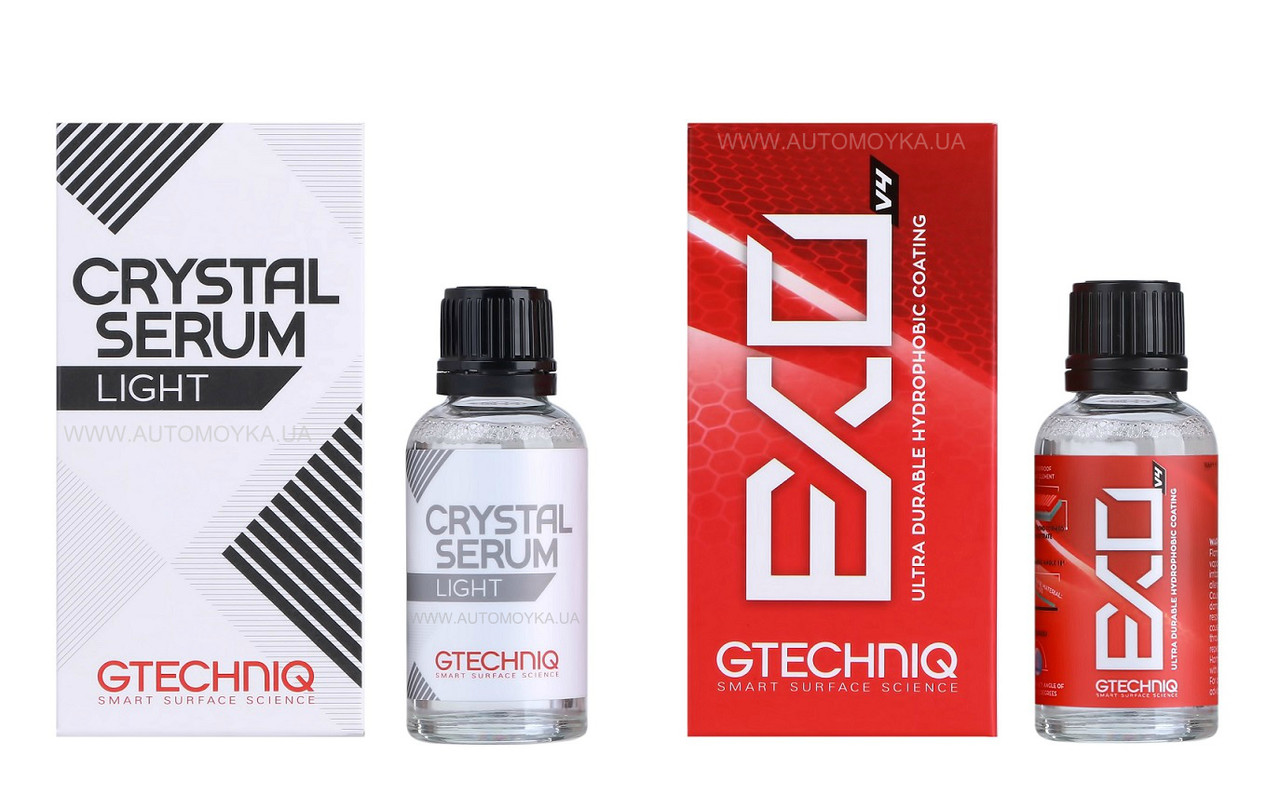 Gtechniq EXO and Crystal Serum Light комплект захисних покриттів 30 мл