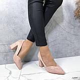 Женские туфли с острым носком 13606, фото 5