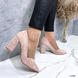 Женские туфли с острым носком 13606, фото 6