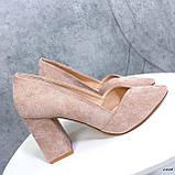 Женские туфли с острым носком 13606, фото 7