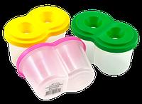 Стакан-непроливайка двойной со штрих-кодом 12,8 х 7,6 х 7,6 см пластиковый AS-0025, К-9022