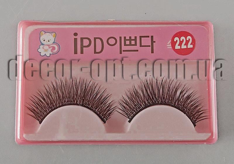 Накладные ресницы для куклы черные 10-12мм арт.222
