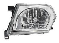 Фара передняя Nissan Patrol (Y61) 2000-2004 левая H4 мех. регул. (серая оптика) 215-11A1L-LD-E