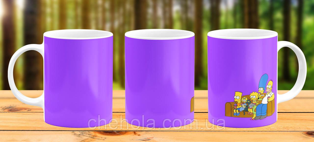 Оригинальная кружка с принтом Симпсоны Прикольная чашка подарок Другу подруге