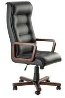Кресло Роял Вуд кожа сплит черная