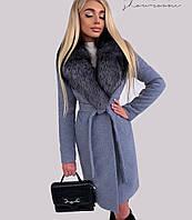 Пальто женское кашемировое. Размеры: 42-44, 44-46, 46-48. Цвет: чёрное, серое, джинс