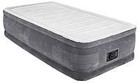 Кровать матрас надувная велюровое со встроеным насосом, фото 1