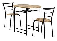 Кухонный обеденный комплект мебели лофт (столик и 2 стула)