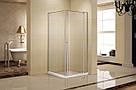 FREEZ душевая кабина 90*90*200см, квадратная, распашная дверь, правая, без поддона, хром, стекло прозрачное, фото 3