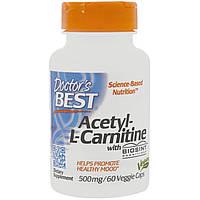 Ацетил L-Карнитин 500мг, Biosint, Doctor's Best, 60 гелевых капсул (DRB00105)