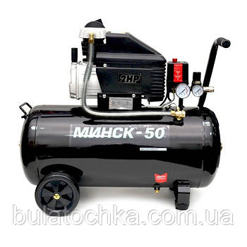 Компрессор Минск-50, 1.5 кВт, 220 В, 8 атм, 205 л/мин INTERTOOL PT-0021