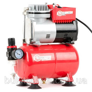 Компресор безмастильний 3 л, 0,3 кВт, 220 В, 3,2атм, 50л / хв INTERTOOL PT-0001