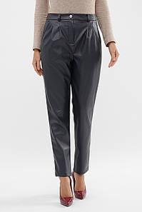 Женские синие кожаные брюки К1 брюки