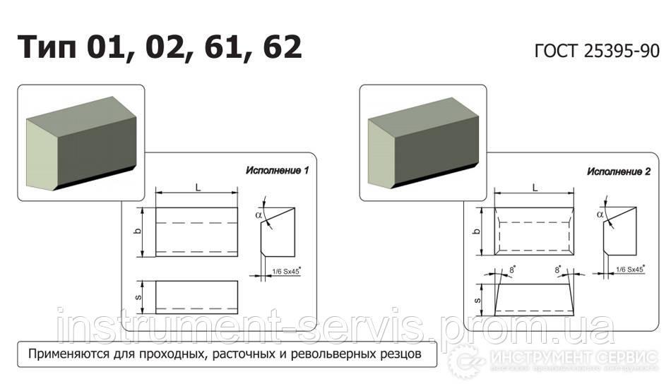 Пластина твердосплавная 01311 ВК8
