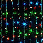 Гирлянда штора водопад светодиодная, 300 LED, Мультицветная, прозрачный провод, 2х2м., фото 5