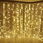 Гирлянда штора водопад светодиодная, 300 LED, Золотая (Желтая), прозрачный провод, 2х2м., фото 3