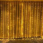 Гирлянда штора водопад светодиодная, 300 LED, Золотая (Желтая), прозрачный провод, 2х2м., фото 7