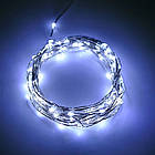 Гирлянда нить светодиодная Капли Росы 100 LED, Белая, проволока, от сети с адаптером, 10м., фото 4
