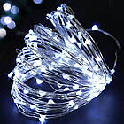 Гирлянда нить светодиодная Капли Росы 100 LED, Белая, проволока, от сети с адаптером, 10м., фото 5