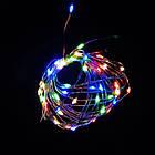 Гирлянда нить светодиодная Капли Росы 100 LED, Мультицветная, проволока, от сети с адаптером, 10м., фото 7