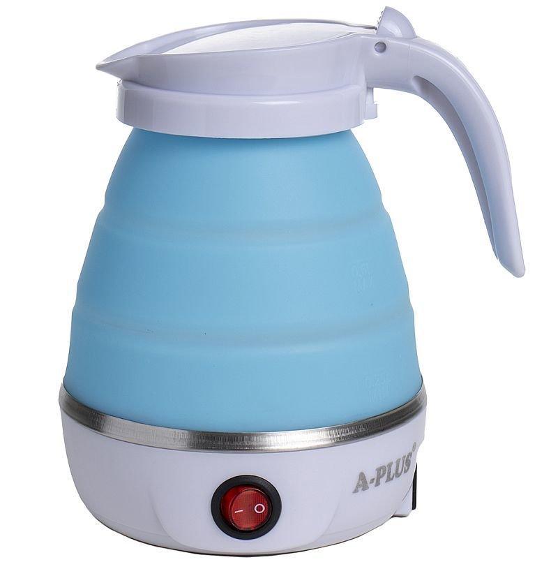 Складной силиконовый электрический чайник А-Плюс 1517 blue, 600 мл