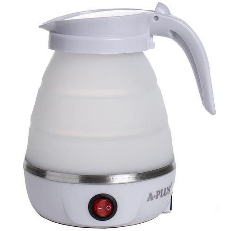 Складной силиконовый электрический чайник А-Плюс 1517 white, 600 мл