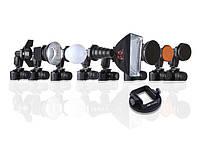 K9 KIT комплект аксессуаров на вспышку с универсальной насадкой Flex Adapter, фото 1