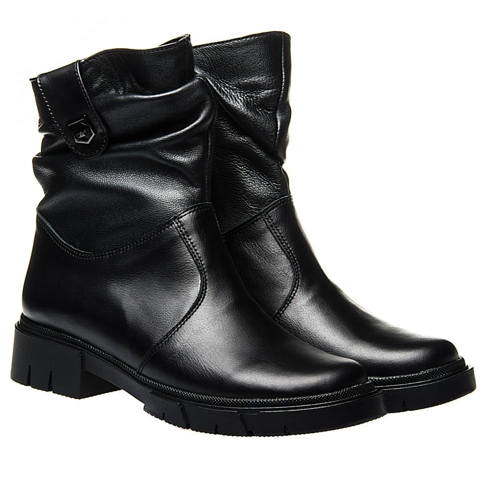 Ботинки La Rose 2323 36(23,4см) Черная кожа ЗИМНИЕ