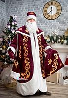 Карнавальный костюм, Святой Николай, бордовый бархат, 52, 54, 56