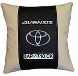 Подушка автомобильная toyota с вышивкой имени сувенир, фото 5